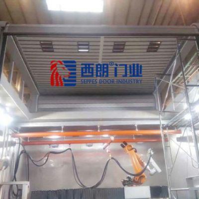杭州西朗门业L型转弯硬质快速门