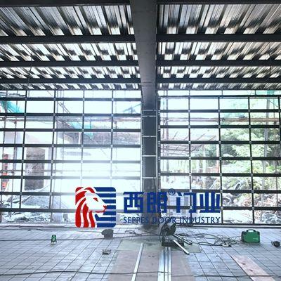 杭州园区安装的透明提升门案例
