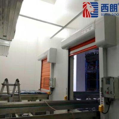 杭州制药工厂仓库安装的保温快速卷帘门