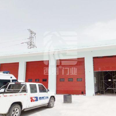 消防站经常使用的一键启闭翻板门