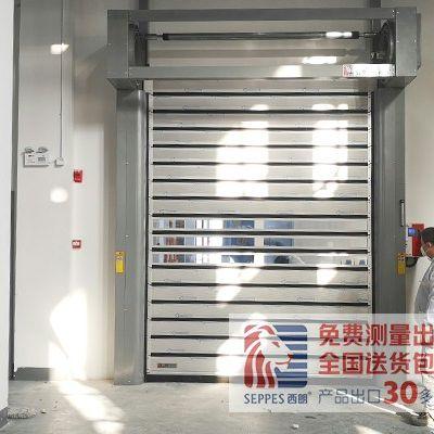 杭州某变压器公司设备间安装硬质快速门
