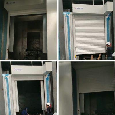 杭州喷涂车间使用的三合一快速工防门正式服役