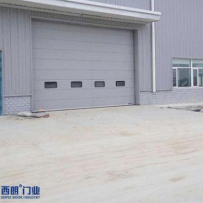 杭州地区新厂房安装的保温抗风提升门