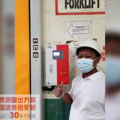 杭州西朗出口到印度尼西亚的拉链快速门项目